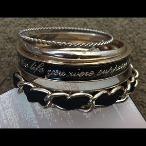 Jewelry - Classy mantra bracelet stack